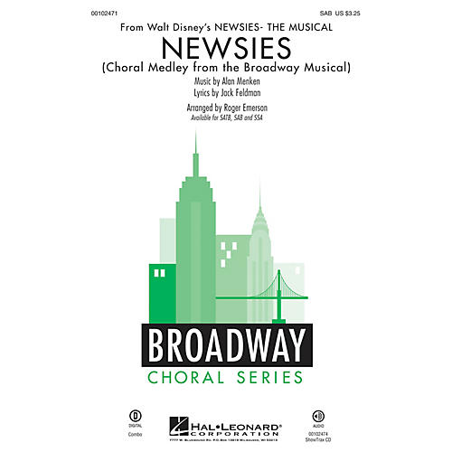 Hal Leonard Newsies (Choral Medley from the Broadway Musical SAB) SAB arranged by Roger Emerson-thumbnail