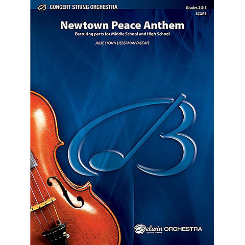 Alfred Newtown Peace Anthem String Orchestra Grade 2 & 3 Set-thumbnail