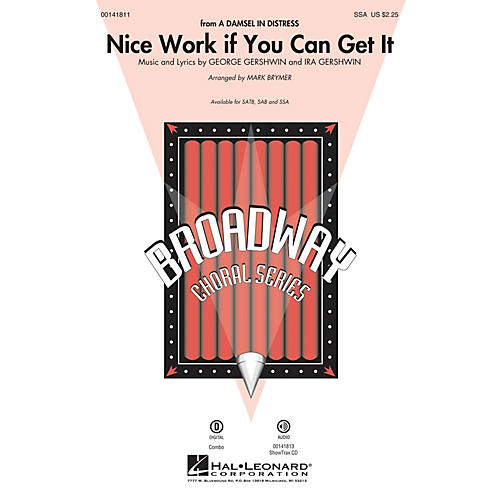 Hal Leonard Nice Work If You Can Get It SSA arranged by Mark Brymer-thumbnail
