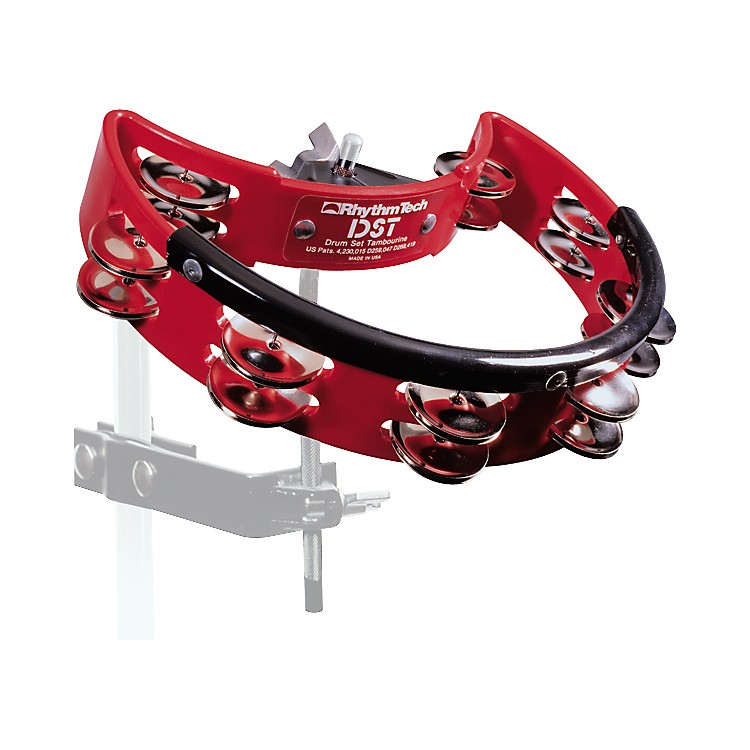 RhythmTech Nickel Drum Tambourine Red