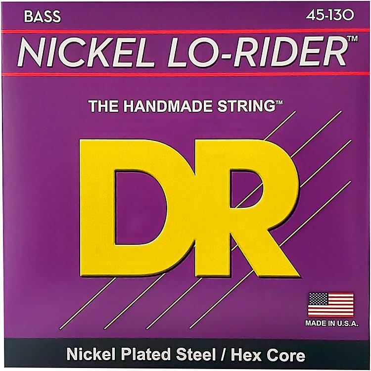 DR StringsNickel Lo-Rider 5 String Bass Medium .130 Low B (45-130)