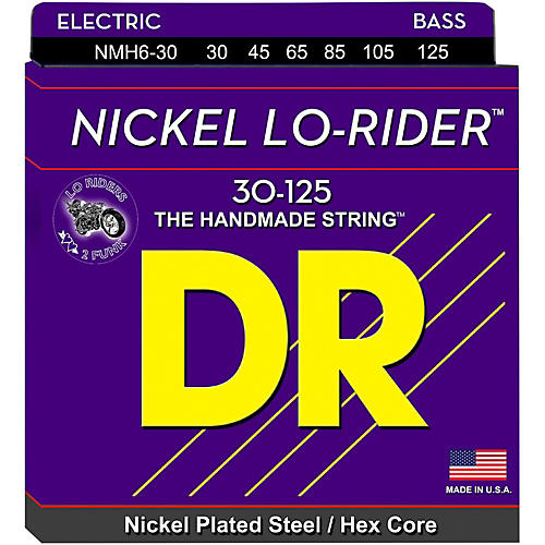 DR Strings Nickel Lo-Riders Medium 6-String Bass Strings