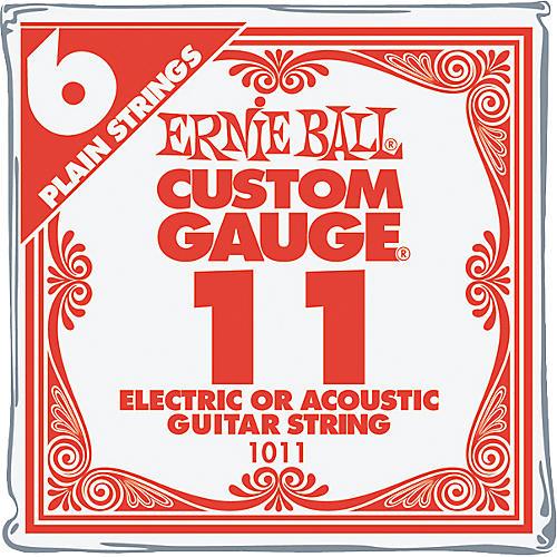 Ernie Ball Nickel Plain Single Guitar String .011 Gauge 6-Pack