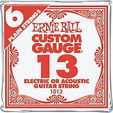 Ernie Ball Nickel Plain Single Guitar String .013 Gauge 6-Pack