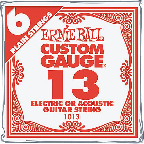 Ernie Ball Nickel Plain Single Guitar String .013 Gauge 6-Pack