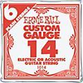 Ernie BallNickel Plain Single Guitar String.0086-Pack