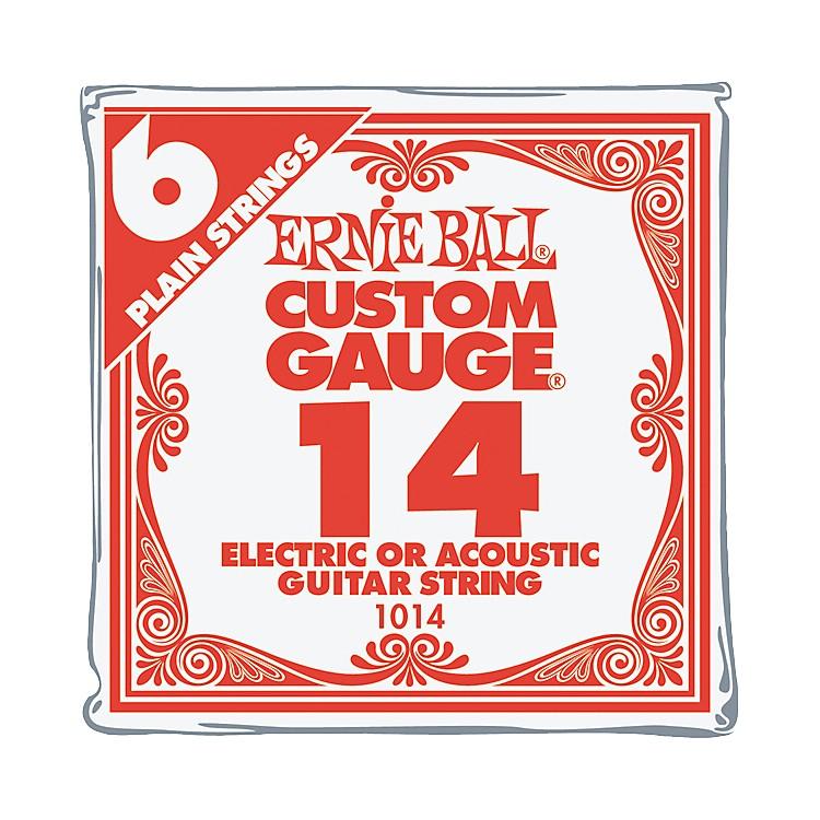 Ernie BallNickel Plain Single Guitar String.0146-Pack