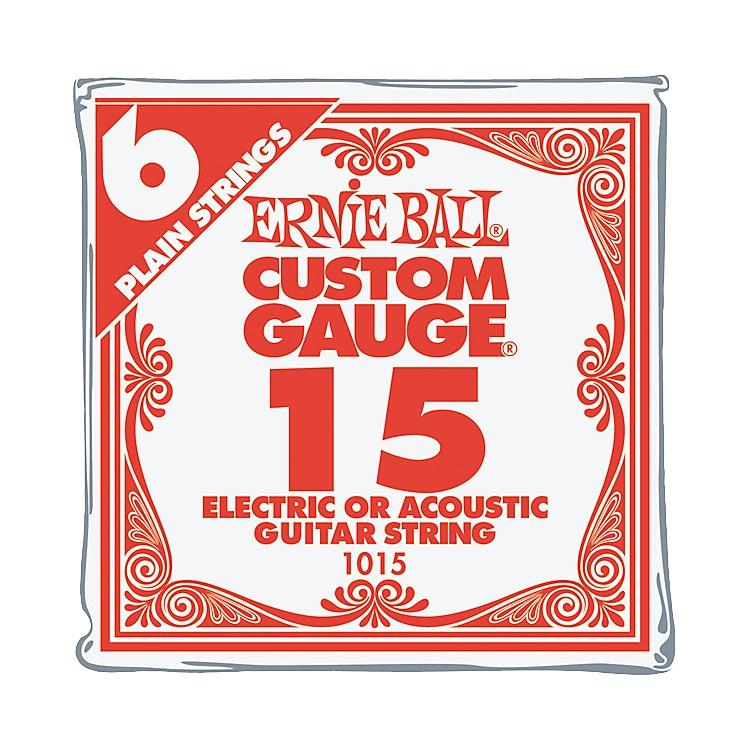 Ernie BallNickel Plain Single Guitar String.0156-Pack