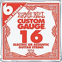 Ernie Ball Nickel Plain Single Guitar String .016 Gauge 6-Pack