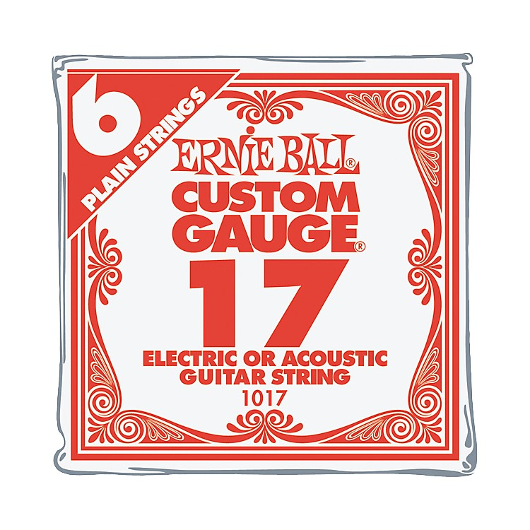 Ernie Ball Nickel Plain Single Guitar String .017 6-Pack