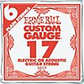 Ernie Ball Nickel Plain Single Guitar String .017 Gauge 6-PackThumbnail