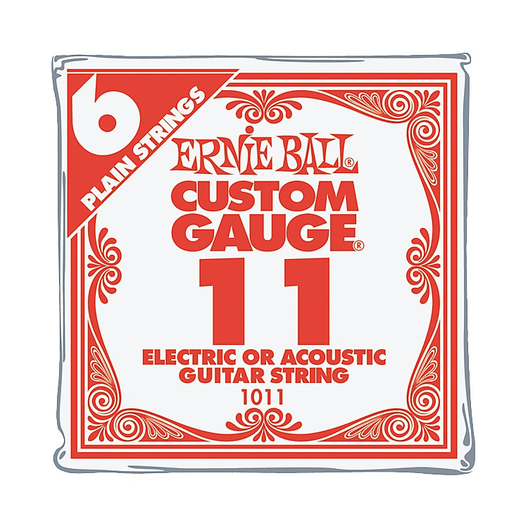 Ernie Ball Nickel Plain Single Guitar String .020 6-Pack