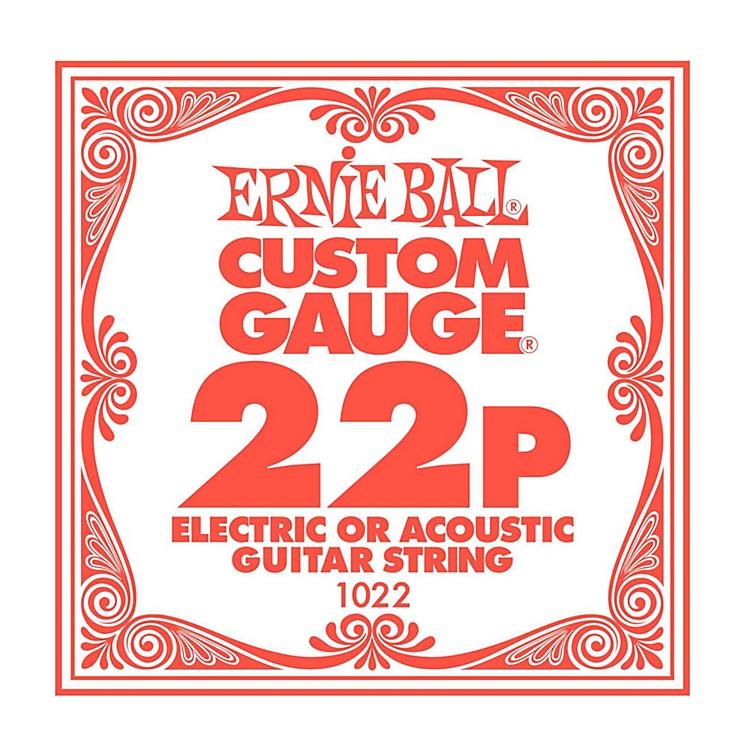 Ernie BallNickel Plain Single Guitar String.0226-Pack