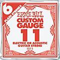 Ernie BallNickel Plain Single Guitar String.0186-Pack