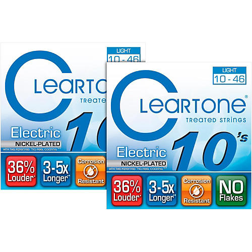 Cleartone Nickel-Plated Light Gauge Treated Electric Guitar Strings (2-Pack)-thumbnail