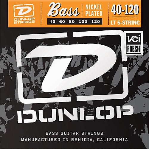 Dunlop Nickel Plated Steel Bass Guitar Strings - Light 5-String