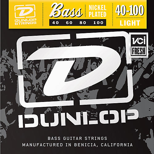 Dunlop Nickel Plated Steel Bass Guitar Strings - Light