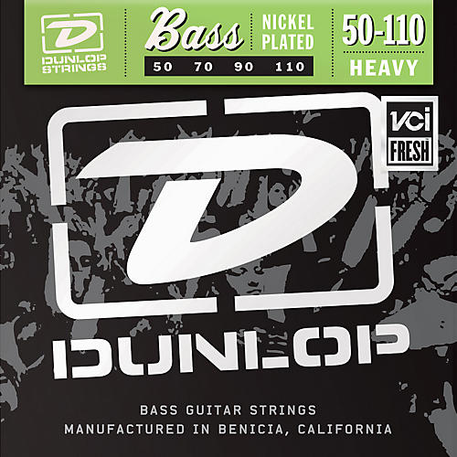 Dunlop Nickel Plated Steel Bass Strings - Heavy