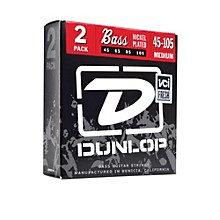 Dunlop Nickel Plated Steel Bass Strings - Medium 2-Pack