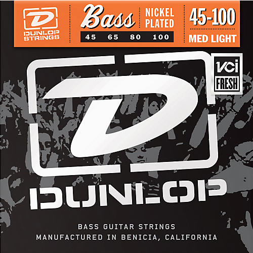 Dunlop Nickel Plated Steel Bass Strings - Medium Light