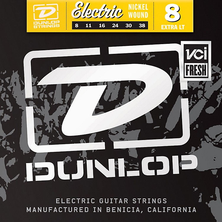 Dunlop Nickel Plated Steel Electric Guitar Strings - Extra Light