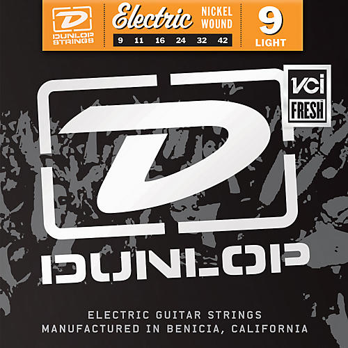 Dunlop Nickel Plated Steel Electric Guitar Strings - Light