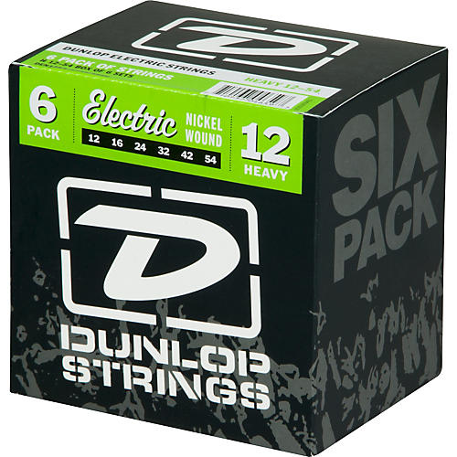 Dunlop Nickel Plated Steel Electric Guitar Strings Heavy 6-Pack