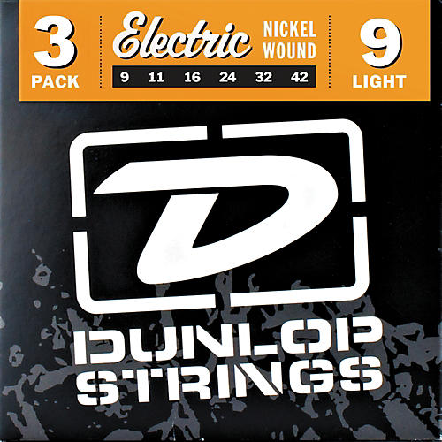 Dunlop Nickel Plated Steel Electric Guitar Strings Light 3-Pack-thumbnail