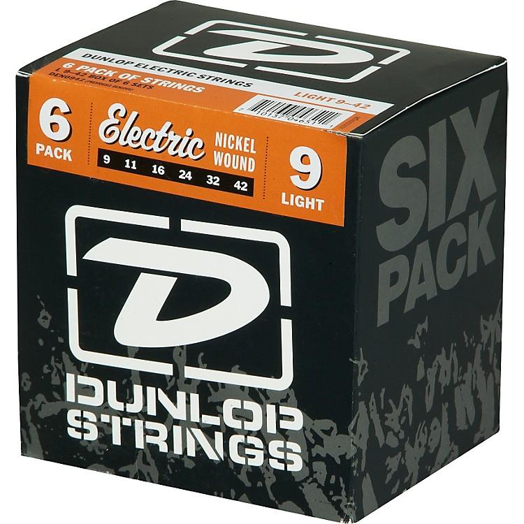DunlopNickel Plated Steel Electric Guitar Strings Light 6-Pack