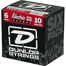 Dunlop Nickel Plated Steel Electric Guitar Strings Medium 6-Pack