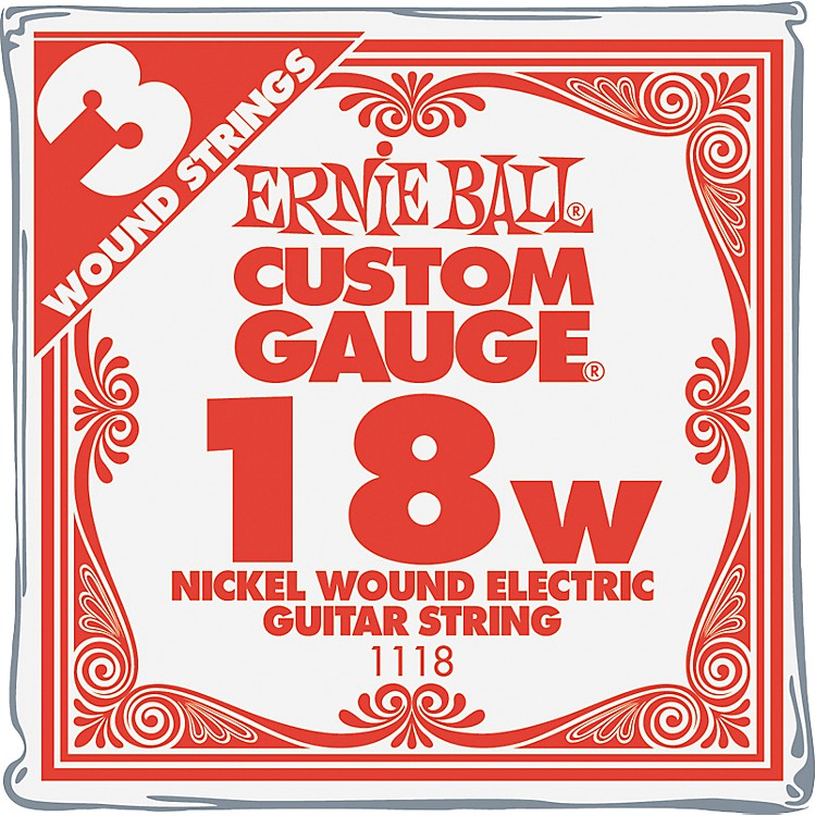 Ernie Ball Nickel Wound Single Guitar Strings 3-Pack .018 3-Pack