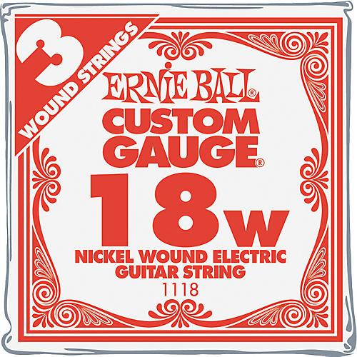 Ernie Ball Nickel Wound Single Guitar Strings 3-Pack .018 Gauge 3-Pack