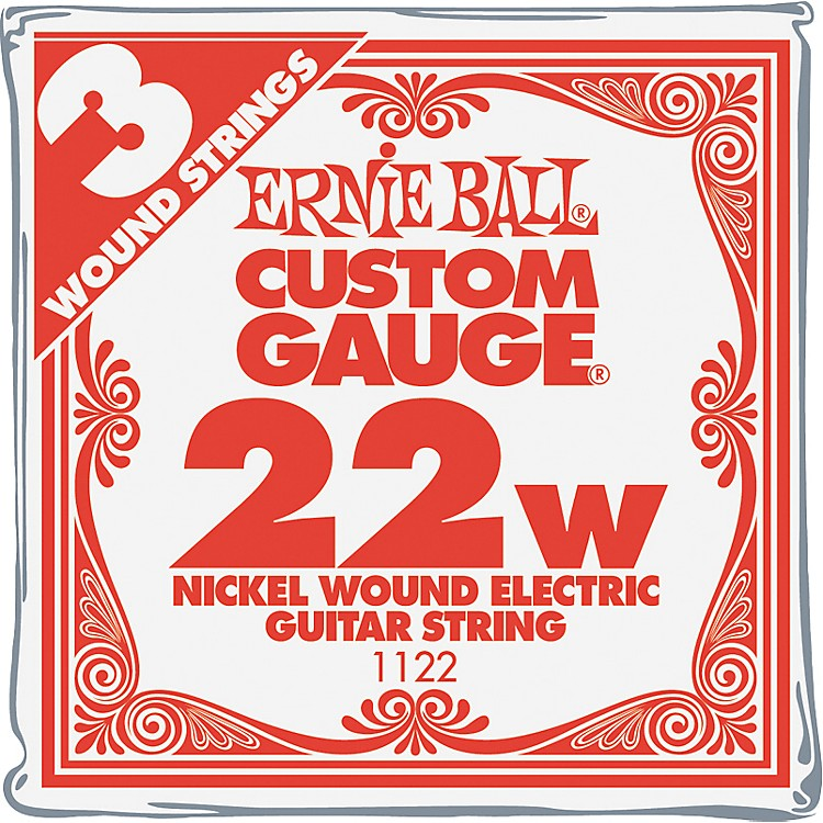 Ernie Ball Nickel Wound Single Guitar Strings 3-Pack .022 3-Pack