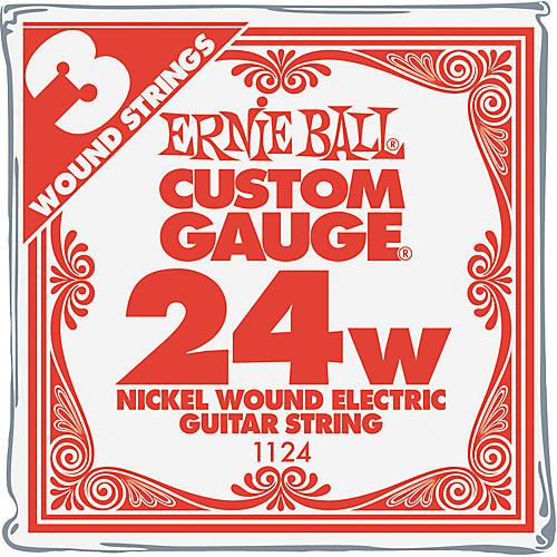 Ernie Ball Nickel Wound Single Guitar Strings 3-Pack .024 Gauge 3-Pack