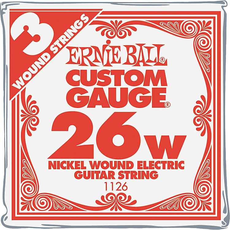 Ernie Ball Nickel Wound Single Guitar Strings 3-Pack .026 3-Pack