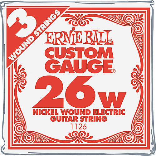 Ernie Ball Nickel Wound Single Guitar Strings 3-Pack .026 Gauge 3-Pack