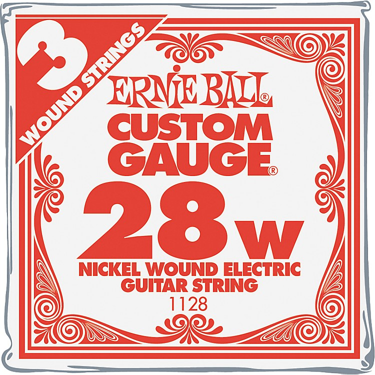Ernie Ball Nickel Wound Single Guitar Strings 3-Pack .028 3-Pack