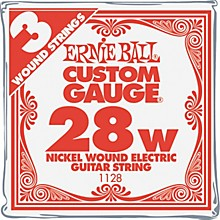 Ernie Ball Nickel Wound Single Guitar Strings 3-Pack .028 Gauge 3-Pack