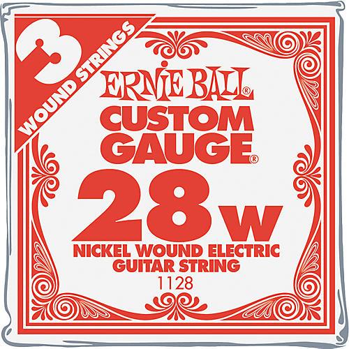 Ernie Ball Nickel Wound Single Guitar Strings 3-Pack .028 Gauge 3-Pack