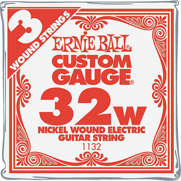 Ernie Ball Nickel Wound Single Guitar Strings 3-Pack .032 3-Pack