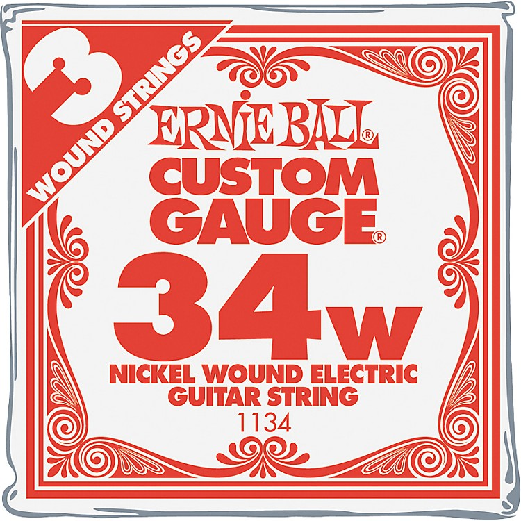 Ernie BallNickel Wound Single Guitar Strings 3-Pack.0343-Pack