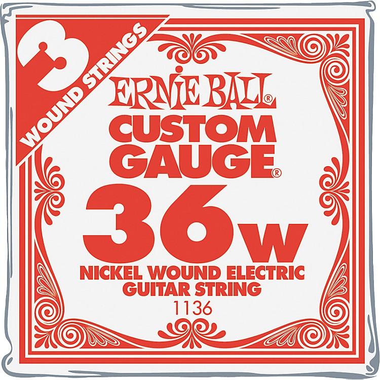 Ernie BallNickel Wound Single Guitar Strings 3-Pack.0363-Pack