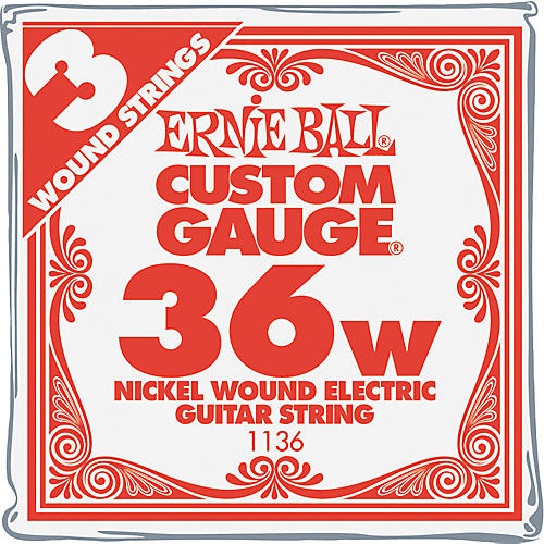 Ernie Ball Nickel Wound Single Guitar Strings 3-Pack .036 Gauge 3-Pack