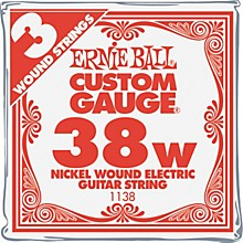 Ernie Ball Nickel Wound Single Guitar Strings 3-Pack .038 Gauge 3-Pack