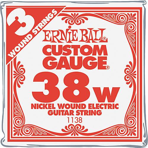 Ernie Ball Nickel Wound Single Guitar Strings 3-Pack .038 Gauge 3-Pack