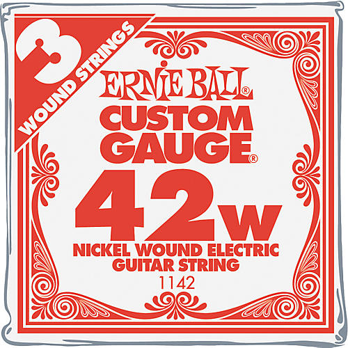 Ernie Ball Nickel Wound Single Guitar Strings 3-Pack .042 Gauge 3-Pack