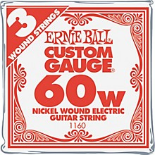 Ernie Ball Nickel Wound Single Guitar Strings 3-Pack .060 Gauge 3-Pack