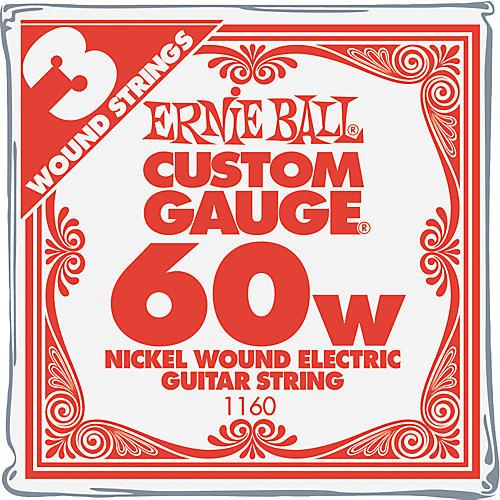 Ernie Ball Nickel Wound Single Guitar Strings 3-Pack .060 Gauge 3-Pack