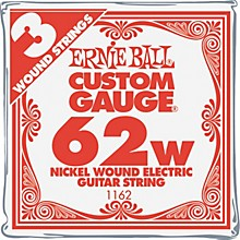 Ernie Ball Nickel Wound Single Guitar Strings 3-Pack .062 Gauge 3-Pack