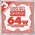 Ernie Ball Nickel Wound Single Guitar Strings 3-Pack .064 3-Pack